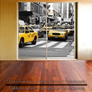 NY Taksówki - dekoracja na szafę