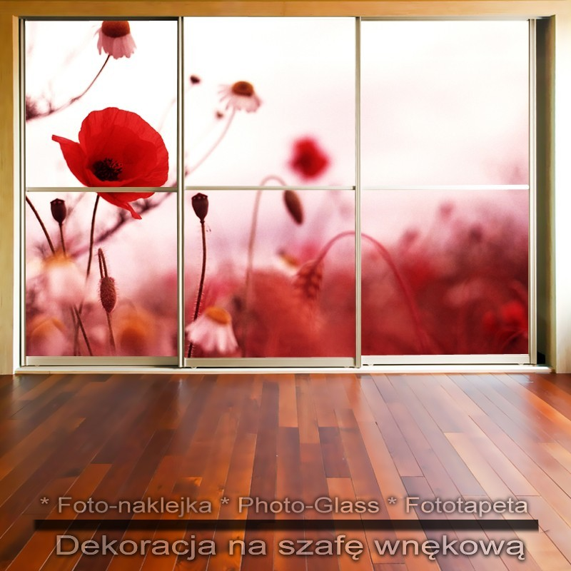 Czerwone - dekoracja na szafę