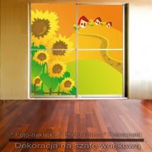 Słonecznikowe pole - dekoracja na szafę