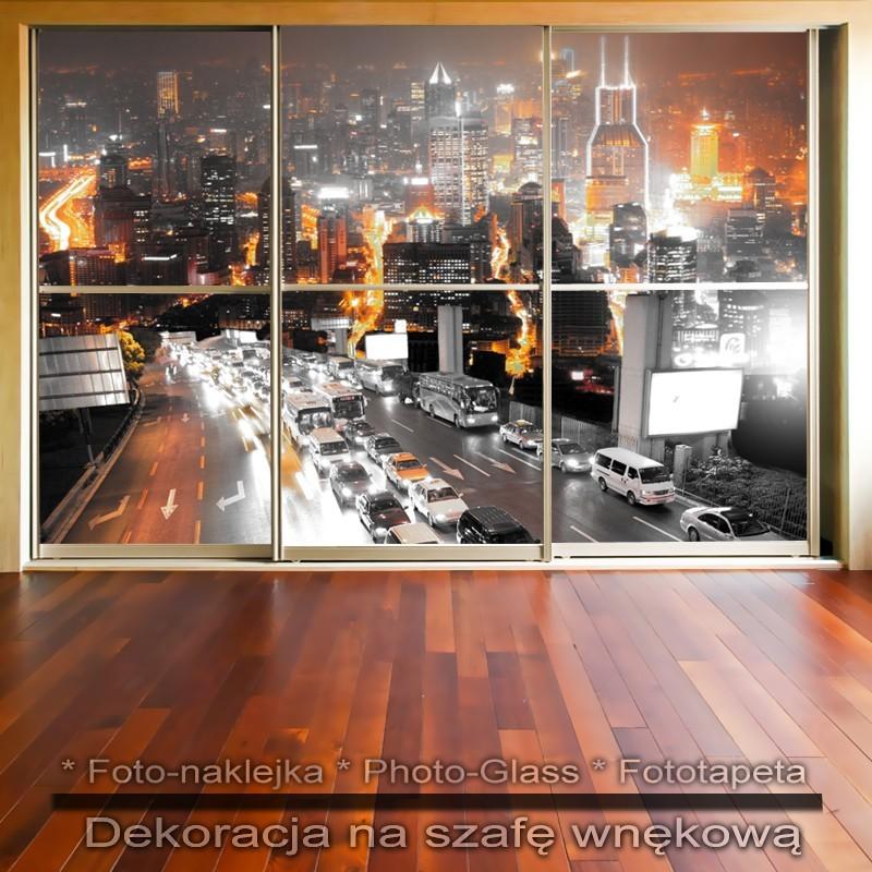Nocne życie - dekoracja na szafę