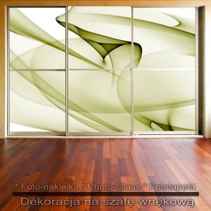 Zielonkawy - dekoracja na szafę