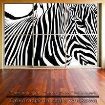 Zebra - dekoracja na szafę