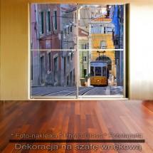 Tramwajem - dekoracja na szafę