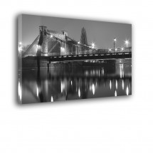 Obraz czarno biały most Grunwaldzki nr 2568