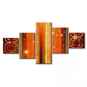 Pomarańczowa abstrakcja - obraz z wielu części nr 2902