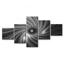 Czarno biały tunel - obraz z wielu części nr 2907