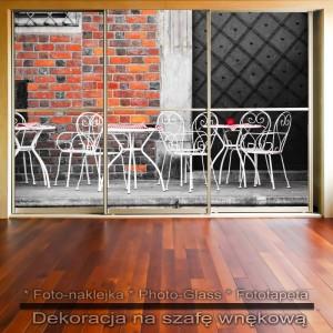 Kawiarenka - dekoracja na szafę