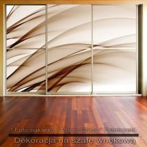 Brązowe łany- dekoracja na szafę