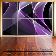 Fioletowa abstrakcja - fototapeta lub naklejka na szafę