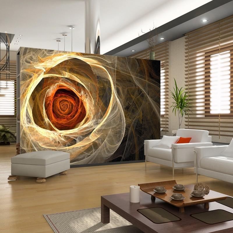 Fototapeta róża w salonie - aranżacja z agaton studio