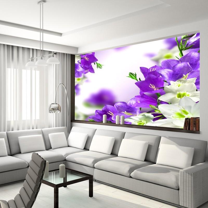 Fototapeta Fioletowe Kwiaty Dzwoneczki