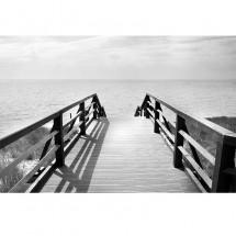 Fototapeta Pomost czarno biała