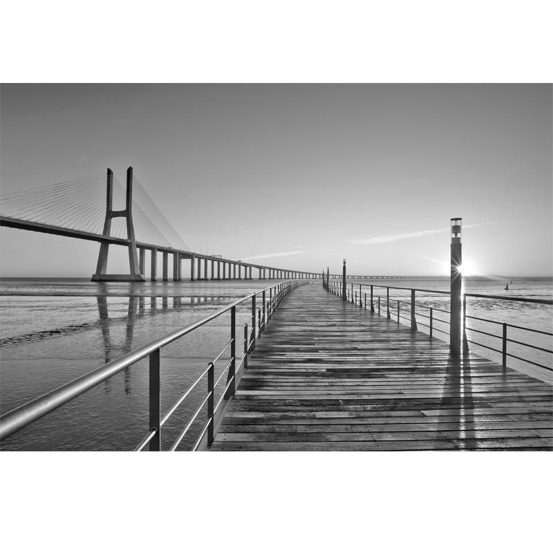 Fototapeta most - czarno biała