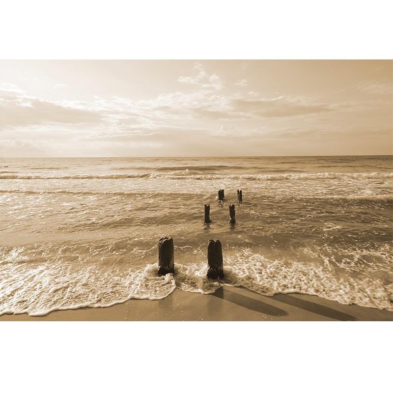 Fototapeta morze Bałtyckie - sepia