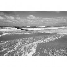 Fototapeta plaża czarno biała
