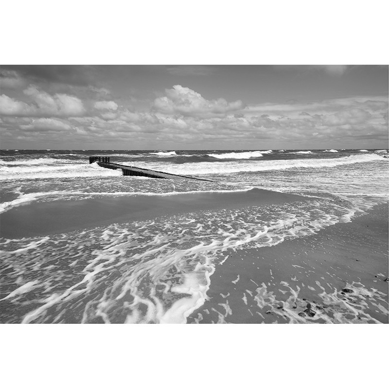 Fototapeta morze - czarno biała