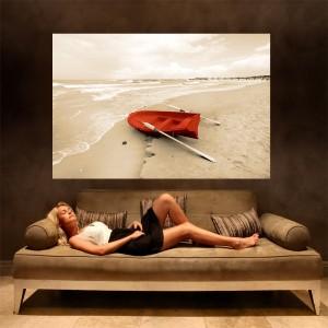Fototapeta morze łódź