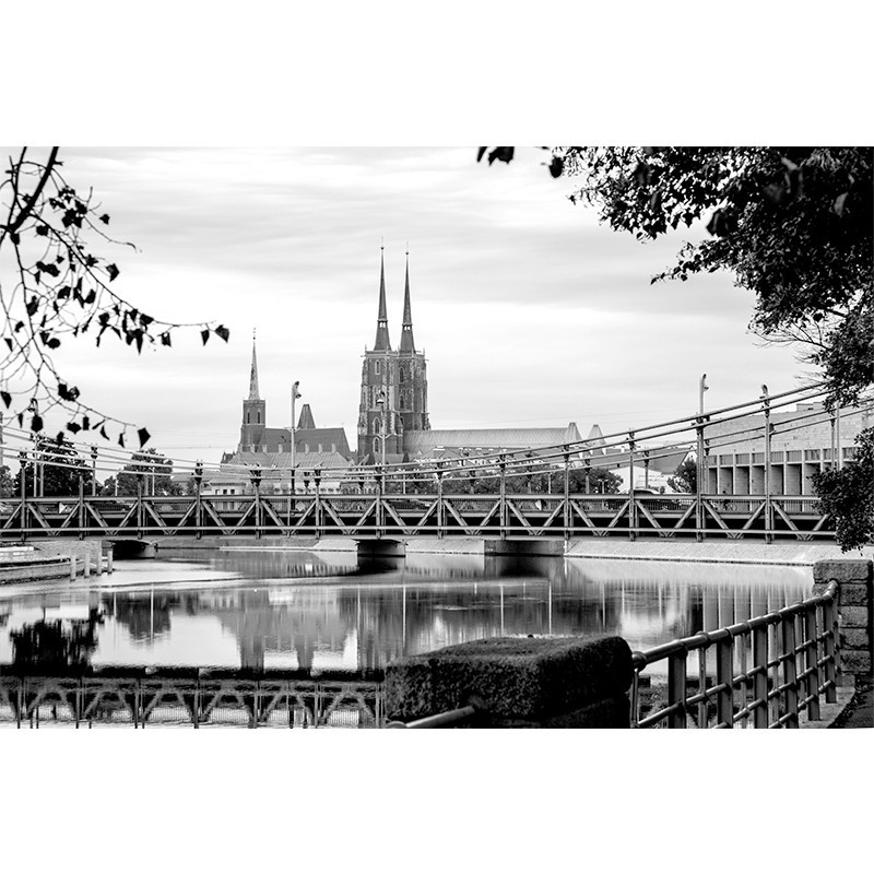 Fototapeta Wrocław - most Grunwaldzki