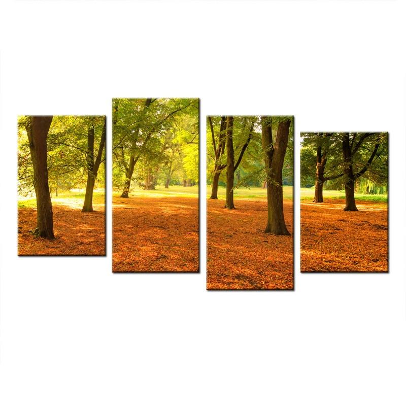 Ozdoba ściany w formie obrazu park - drzewa