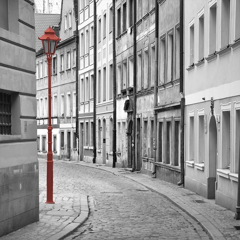 Fototapeta uliczka - czarno biała