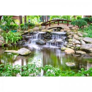 Fototapeta mały mostek nad wodospadem
