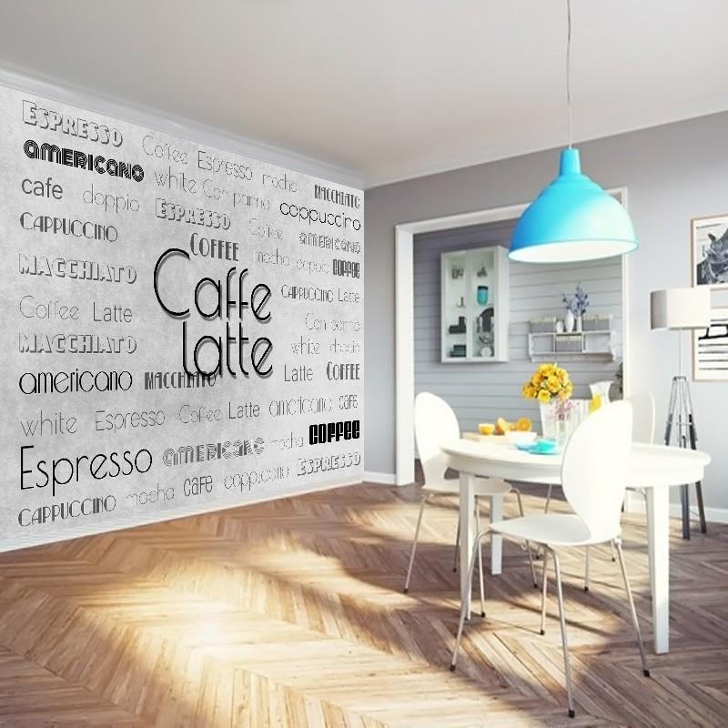 fototapeta z napisami do kuchni kawa