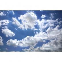 Fototapeta białe chmury