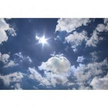 Fototapeta niebo, chmury - aranżacja na suficie salonu