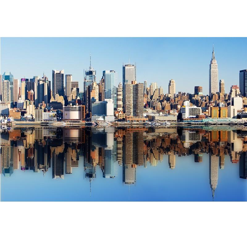 Fototapeta New York z odbiciem w wodzie