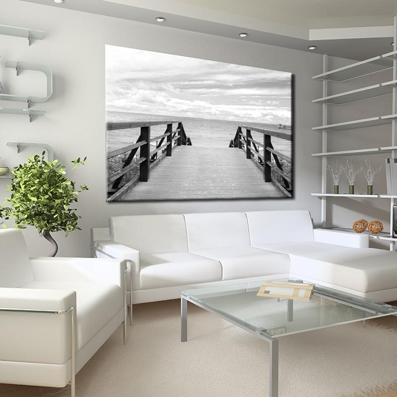 Obraz Morze Czarno Biały