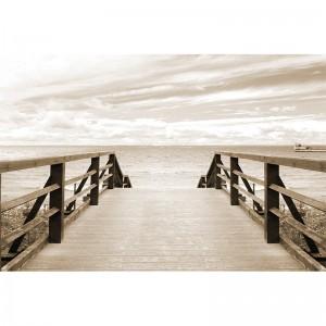 Fototapeta drewniany pomost nad morzem