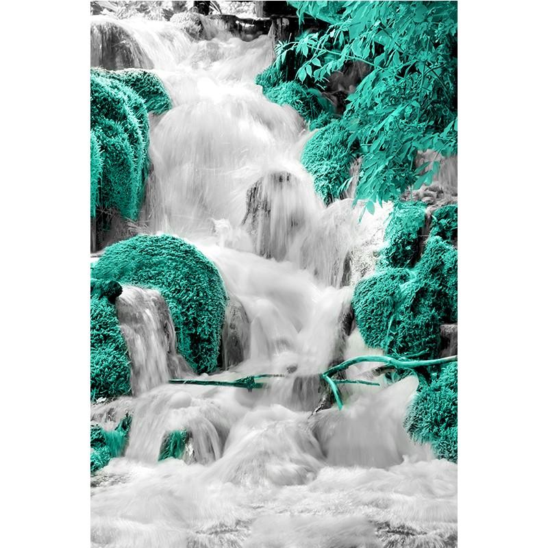 Fototapeta turkusowy wodospad