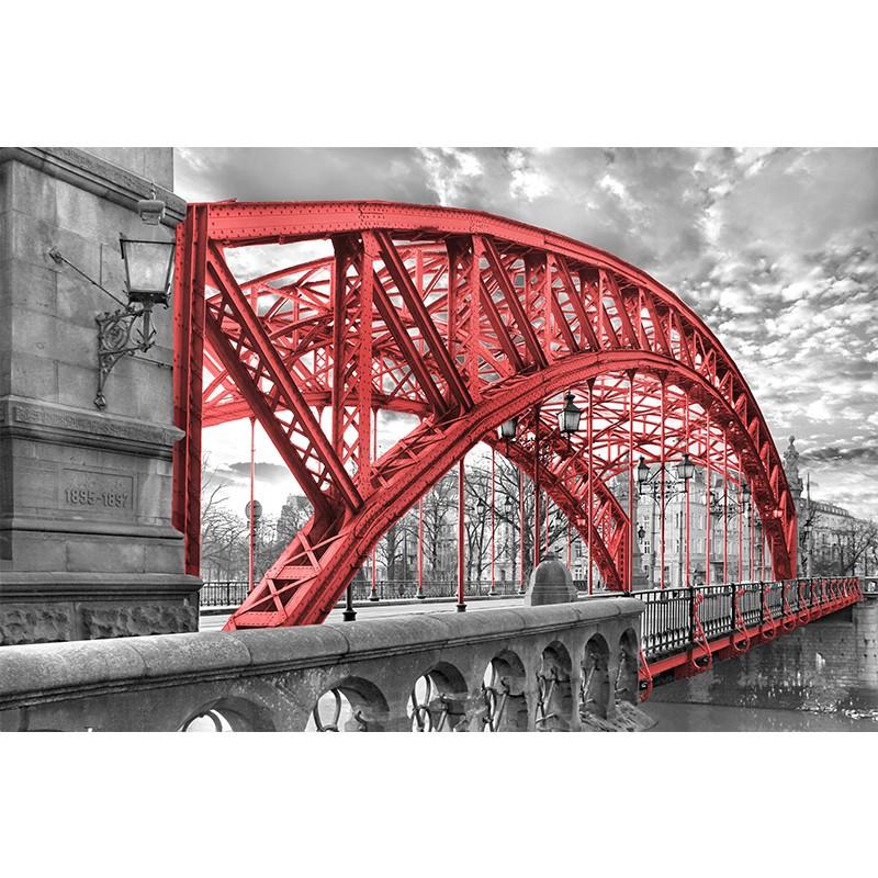 Fototapeta czerwony most Zwierzyniecki