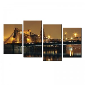 Most Grunwaldzki nocą - obraz z wielu części nr 10026