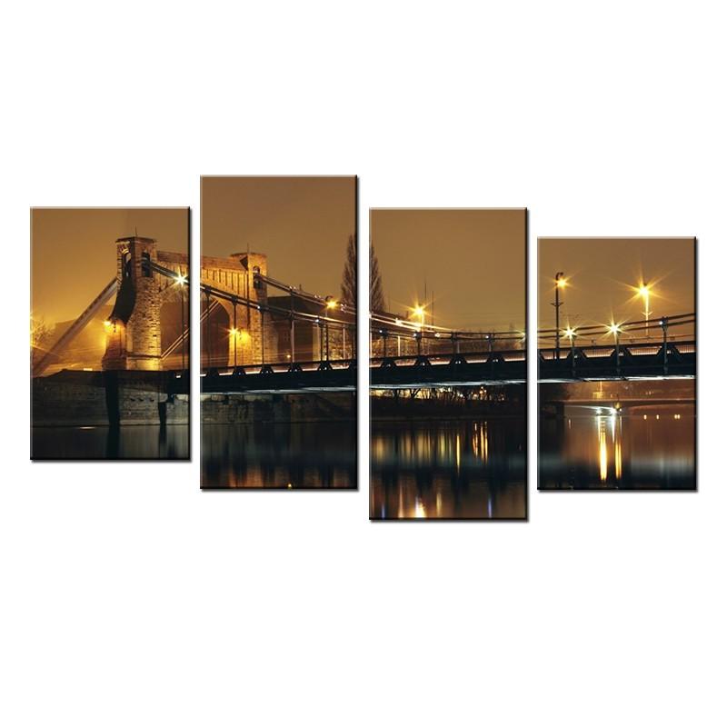 Obraz z kilku części - wieloczęściowy Most Grunwaldzki