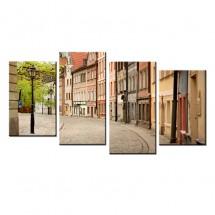 Ozdoba ściany w formie obrazu Wrocław Uliczka