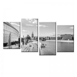 Bulwar nad Odrą - obraz z wielu części nr 10030