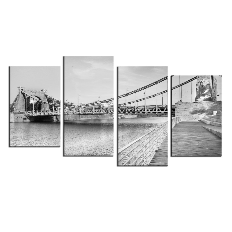 Bulwar przy moście Grunwaldzkim we Wrocławiu