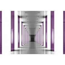 Fototapeta z fioletowym tunelem