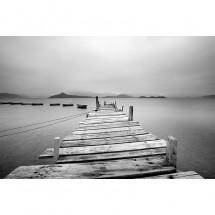 Fototapeta Pomost czarno biały