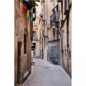 Fototapeta wąska uliczka Barcelona
