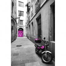 Fototapeta uliczka motocykl