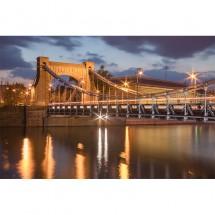 Fototapeta most Grunwaldzki nocą