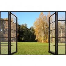 Fototapeta okno z widokiem na ogród