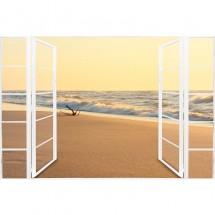 Fototapeta okno z widokiem na morze