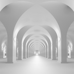 Fototapeta przestrzeń w kolumnadzie