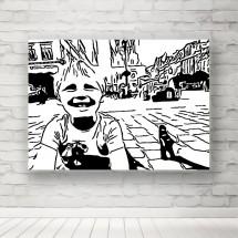 Plakat radość dziecka