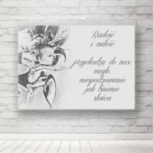 Plakat radość i mołość