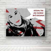 Plakat Kochaj jak chcesz być kochana
