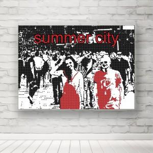 """Plakat """"Lato w mieście"""""""